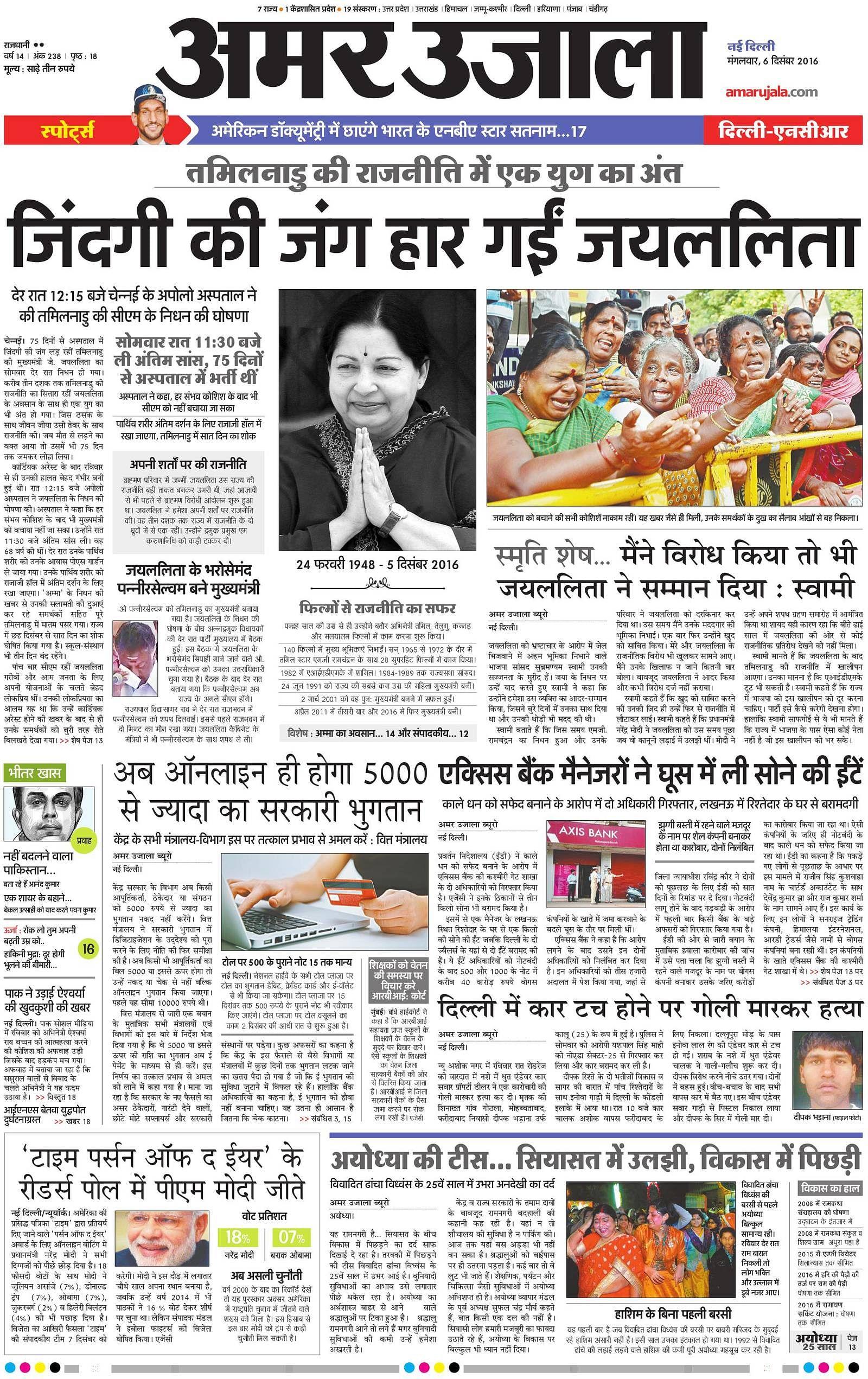 Amar Ujala News Paper Pdf